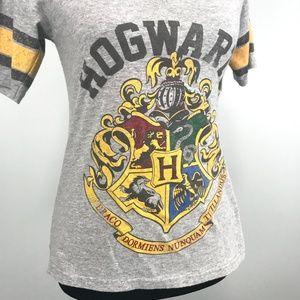 Harry Potter Hogwarts School Crest T-Shirt V Neck